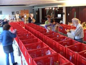 Elke week worden veel voedselpakketten samengesteld